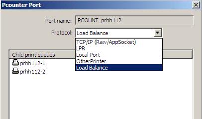 PCounter port config dialog